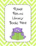 Library Bin Sign