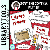 Library Planner Binders COVERS ONLY Editable School Theme