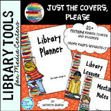 Library Planner Binders COVERS ONLY Editable Books Theme