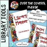 Library Planner Binders COVERS ONLY Editable Scrappy Theme