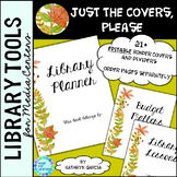 Library Planner Binders COVERS ONLY Editable Fall Leaves
