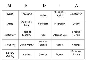 Library Bingo Game by KMediaFun
