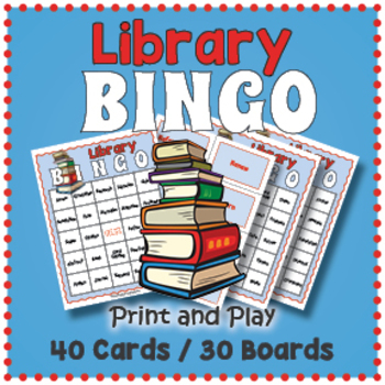 Library Bingo Game - Library Themed Activity