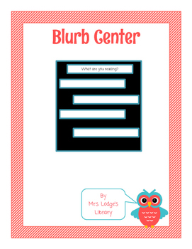 Library Blurbs or Library Tweets Microblogging Center with Lesson Plan