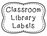 Library Book Basket Labels for Middle School