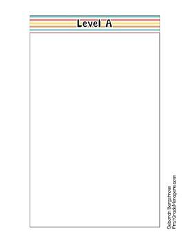 Library Book Basket Organization Tabs (Multi-Stripe)