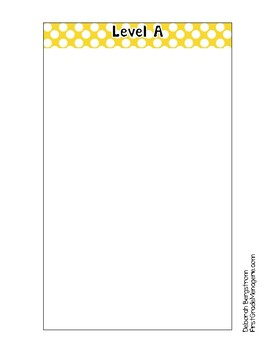Library Book Basket Organization Tabs (Yellow Polka Dot)