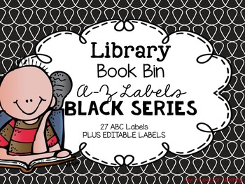 Library Book Bin A-Z Labels {Black Series}