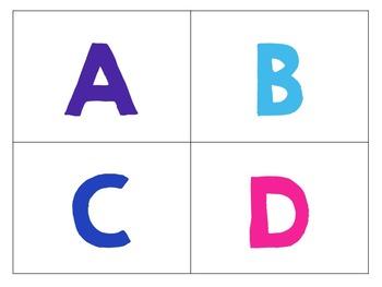 Library Book Bin A-Z Labels {White Series}