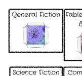 Library Book Bin Genre Labels