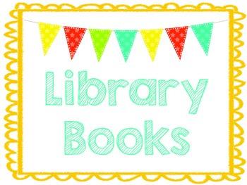 Library Book Bin Label