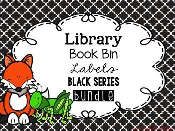 Library Book Bin Labels BUNDLE {Black Series}