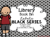 Library Book Bin Labels {Black Series}