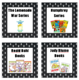 Library Book Bin Labels ***Black with white triangles***