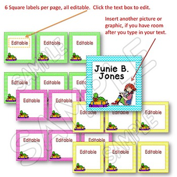 EDITABLE Labels - Book Bin Labels for the Classroom Library CHEVRON BRIGHTS