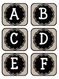 Library Book Bin Labels Farm Rustic Shabby Chic Polka Dot