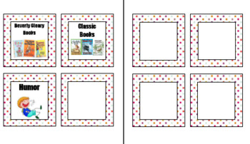 Library Book Bin Labels ***Polka dot***