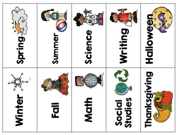 Library Book Bin Labels {White Series}