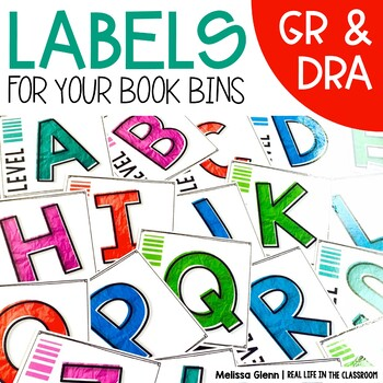 Classroom Library Labels for Book Bins and Baskets