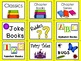 Library Book Bin Labels for Reading Centers
