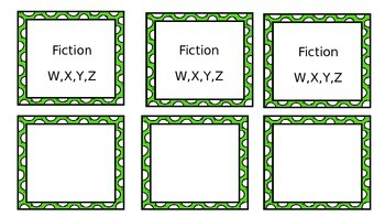 Library Book Bin Labels*Guided Reading*Editable