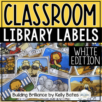 White Library Book Box Labels {Over 150 Book Labels!}
