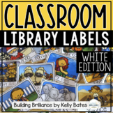White Library Book Box Labels {Editable Template Included}