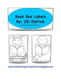 Library Book Box Labels with Pictures