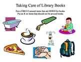 Library Book Care Worksheet or SMART board activity