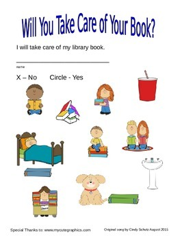 Library Book Care song (and activities)