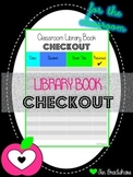Library Book Checkout Form ~ Keep Your Classroom Organized ~ BRIGHT STRIPES Free