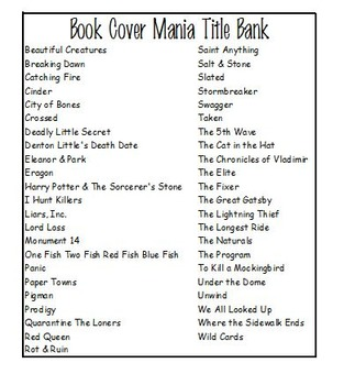 Library Book Cover Mania