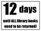 Library Book Due Date Countdown