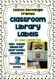 Library Book  Labels –  420+Classic Rectangle Book and Book Bin Labels