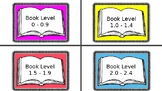 Library Book Labels (Leveled and Color-coded)