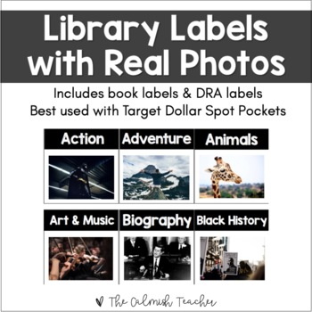 Library Labels with Real Photos