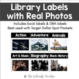 Library & Book Labels with Template (Black & White)