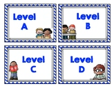Library Book Levels (Red and Blue)