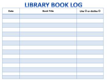 Library Book Log - Basic