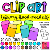 Library Book Pockets Clip Art / Set of 19 Images