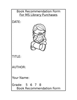 Library Book Suggestion Form