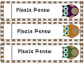 Library Book Renewal Bookmark