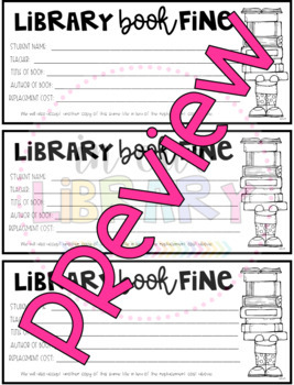 Library Book Replacement Forms