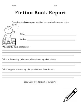 Library Book Reports (K-1st grade)