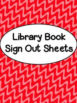 library book sign out sheets by beth kelly teachers pay teachers