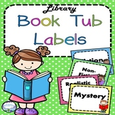 Library Labels Kids Reading Books Theme