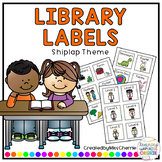 Library Book Tub Labels (Shiplap Theme) EDITABLE