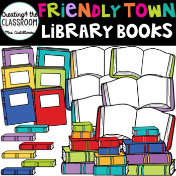 Library Books Clipart {Library Clip art}
