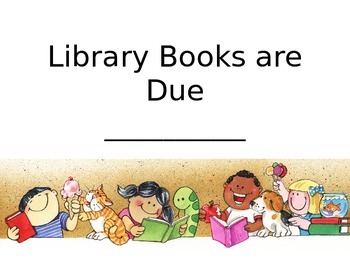 Library Books Due Date