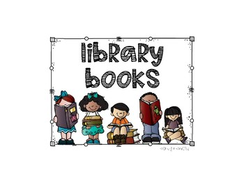 Library Books Sign for Crate